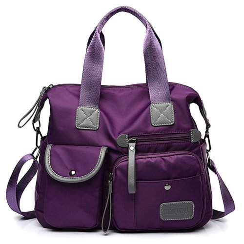 Women Nylon Waterproof Large Capacity Handbag Shoulder Bag