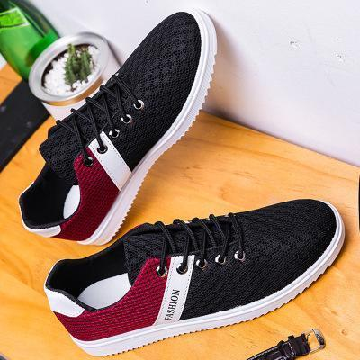 Mens Casual Mesh Lace Up Flat Shoes
