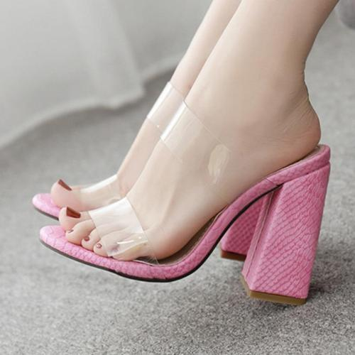 Summer Chunky Heel Daily Casual Slippers