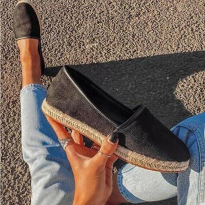 Leopard Print Straw-Weaved Sole Flat Loafers