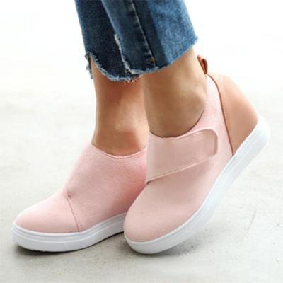 Women Round Toe Faux Suede Sneakers