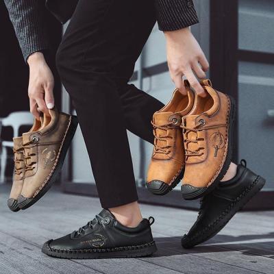 Men's Classic Walking Shoes Lace Up Flats
