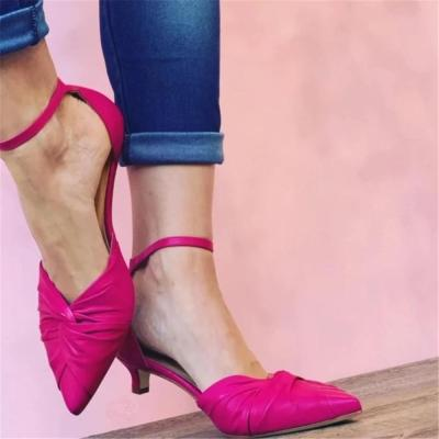 Women's Fashion Solid Color Pointed High Heel Mules