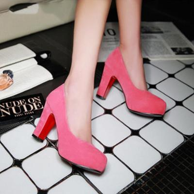 New Style Pure Color High Heels Party Shoes