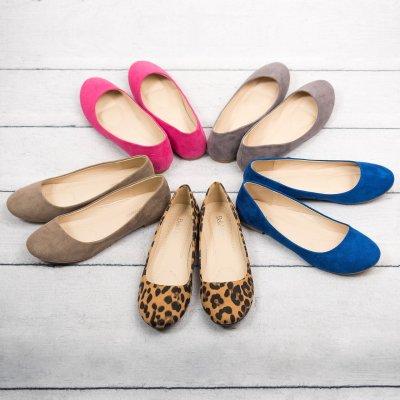 Classic Burgundy Ballerina Flats