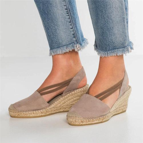 Fashion Wedge With One-Legged Female Sandals