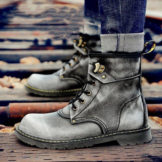 British Hundred Men's Suede Workers Wear Snow Men Boots