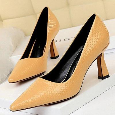 Sexy Kitten Heels Snake Women Pumps Spring Women Shoes High Heels