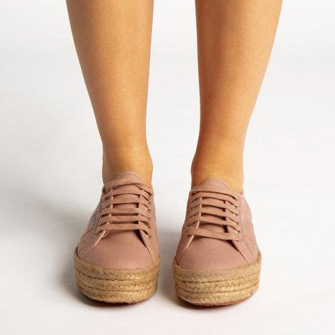 Espadrille Platform Sneakers All Season Lace-Up Womens Sneakers