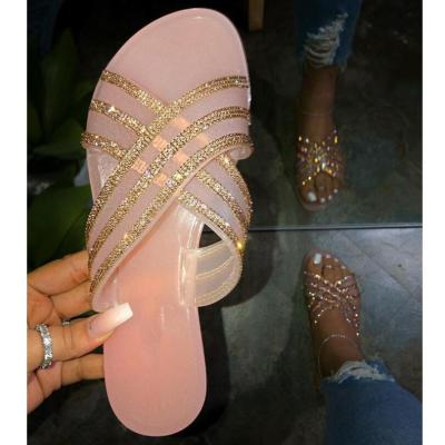 Solid Color Slippers Women Fashion Beach Vacation Shoes Flat with Comfort Outdoor