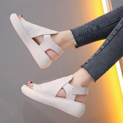 Peep Toe Woman Sandals Female Wedges Ladies Flats Platforn Women Fashion Solid Shoes