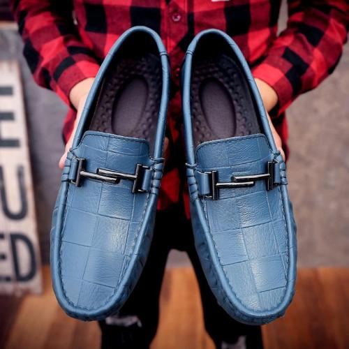 Handmade Genuine Leather Men Shoes Luxury Italian Casual Mens Loafers Breathable Driving Shoes Slip on