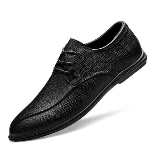 Man Shoes Genuine Leather Dress Shoe Autumn Men's Leather Footwear Derby Oxfords Design Handmade