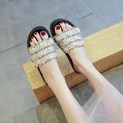 Fashion Summer platform Slippers Casual Vine grass open toe Slip On flat Flip Flops cute Beach Slides Sandals
