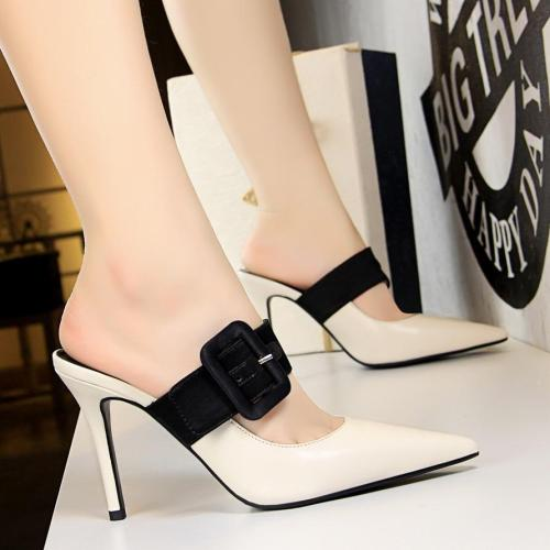 Shoes Women Pumps New Summer Stiletto High Heels Women Shoes Fashion Women Sandals Buckle White Shoes Slippers Women