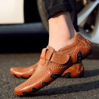 Handmade Genuine Leather Mens Shoes Casual Brand Italian Men Loafers Fashion Driving Shoes Slip on