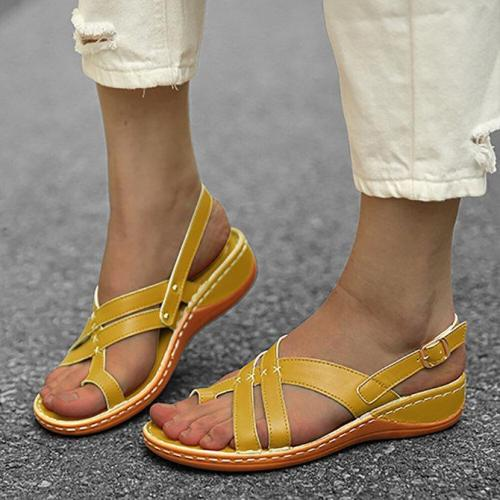 Buckle Summer Thong Sandals