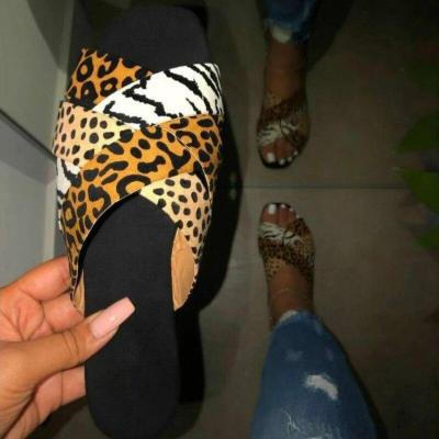 Sequins Women Slippers Roman Style Summer New Women's Slides Flat Outdoor Beach Slippers