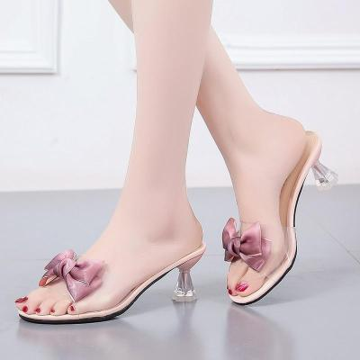 Heels Fashion Women's Sandals Summer New Bow High Heel Cool Women's Shoes
