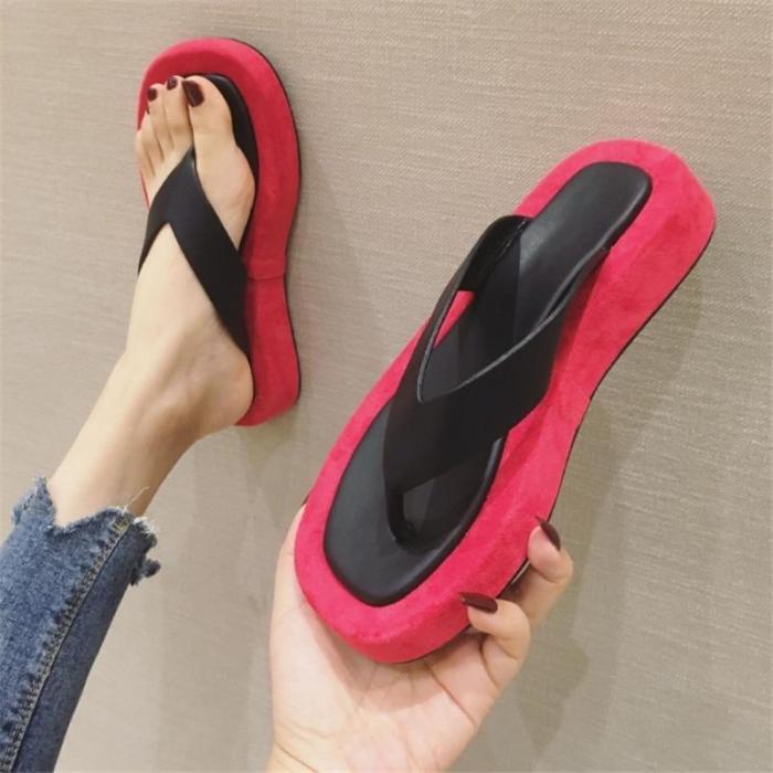 Women's Flat Slippers Fashion Beach Shoes Comfortable Slides Female