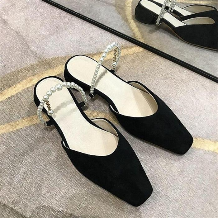 Fashion Leather Sandals Women Sexy Slippers Comfortable Pumps Shoes