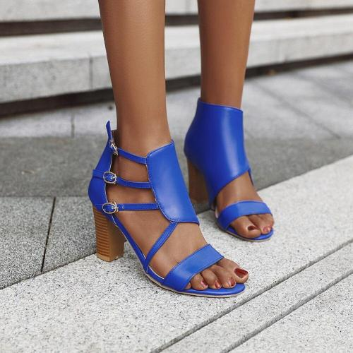 Casual Leisure Party Dress Shoes Woman Buckle Zipper High Heel Sandals Women Summer Sandals