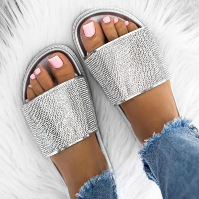 Slip-On Flip Flop Flat With Plain Slippers
