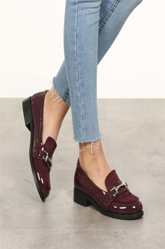 Burgundy Oxford Shoes Fashion High Top Casual Winter Spring Shoes for Women Oxford Shoes Ins