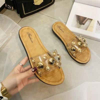 Women Slippers Polka Dot Platform Flat Heel Peep Toe Slides Outdoor&Indoor Beach Leisure Lady Shoes