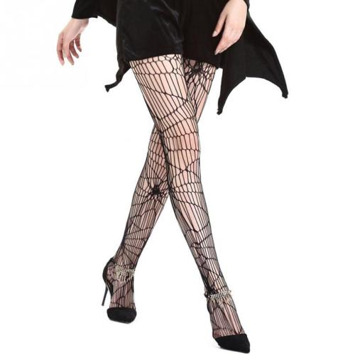 Halloween Gift Spider Web Net Pantyhose Stockings for Women Adult Halloween Costume