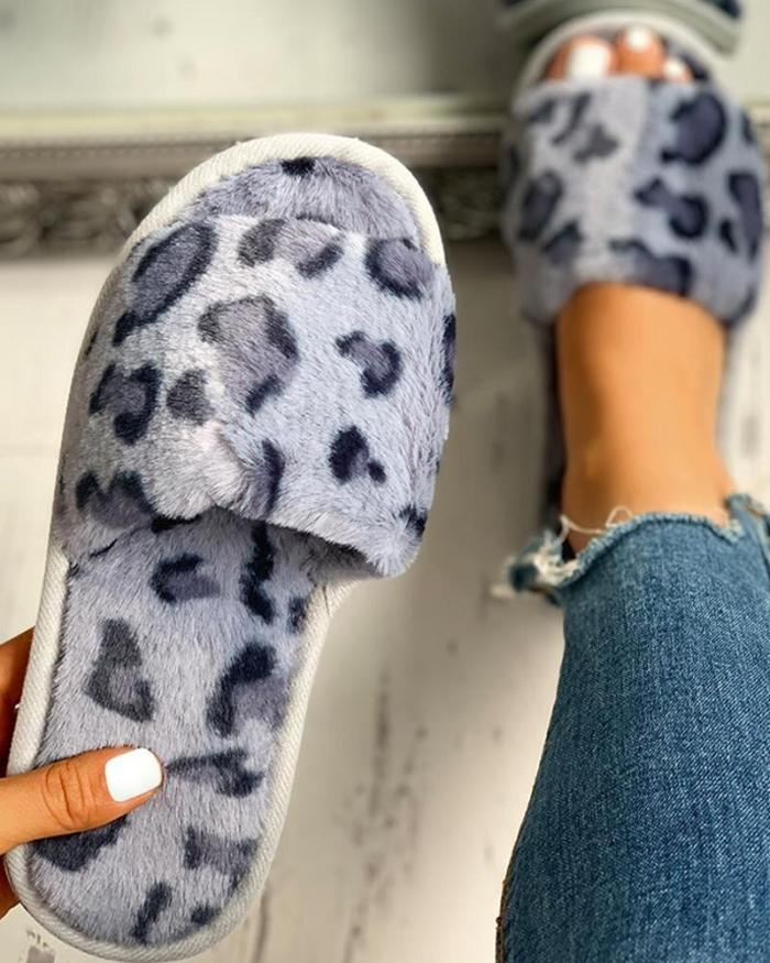Winter Women House Slippers Fashion Warm Shoes Slip on Flats Cozy Home Furry Slippers