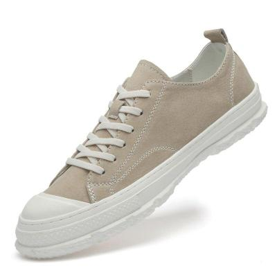 Man Casual Shoes Suede Leather Shoe Fashion Men's Footwear Breathable Khaki Male Sneakers Soft New Arrivals