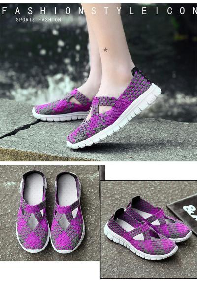Women woven sneakers ballet flats loafers flats shoes