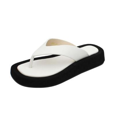 Flip Flops Women's Flat Slippers Thick Sole Fashion Beach Shoes Flat Platform Comfortable Slides Female