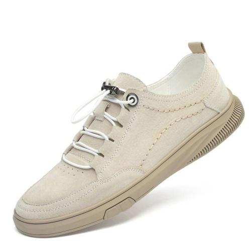Man Shoe Suede Leather Men's Sneakers Leisure Shoe Walking Footwear Elastic Band