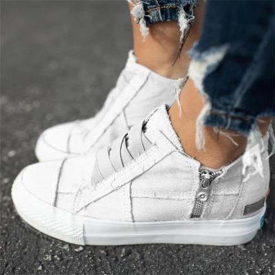 Spring University PU Shoes  Flat Heels Round Slip On Solid Ladies Sneakers Comfortable Flat Outdoor Female Shoes