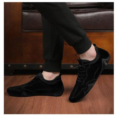 Man Shoes Suede Leather Sneakers Summer Men Casual Shoe Fashion Breathable Leisure Footwear Soft