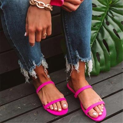 Stylish and simple wild strip sandals