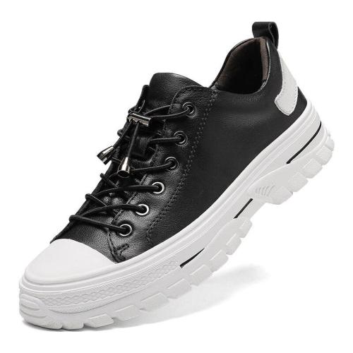 Man Leather Sneakers Fashion Male White Shoes Casual Shoe clax Men's Walking Footwear Design