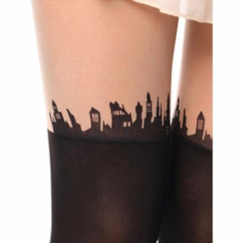Sexy Black Fashion Nylon Lolita Socks for Halloween Party