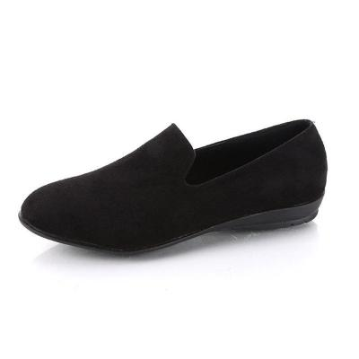 Women's Casual Round Head  Flat Suede Shoes