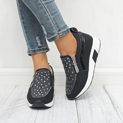 Shoes High Sneakers for Women Outdoor Sports New Rhinestone Female Platform Sneakers