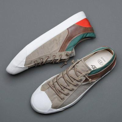 New Fashion Men Casual Vulcanize Shoes British Fashion Elastic Band Canvas Sneakers Breathable Soft Bottom Sewing Flats