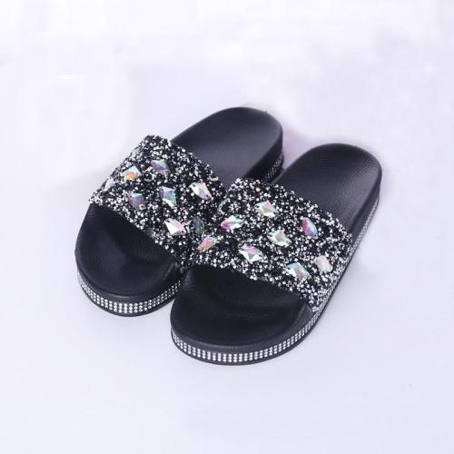 Summer Slippers Slides Shoes Open Toe Beach Slippers Flip Flops Lady Flats