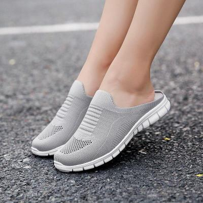 Fashion New Casual Slip on Half Shoes for Women Breathable Lightweight Woman Flats