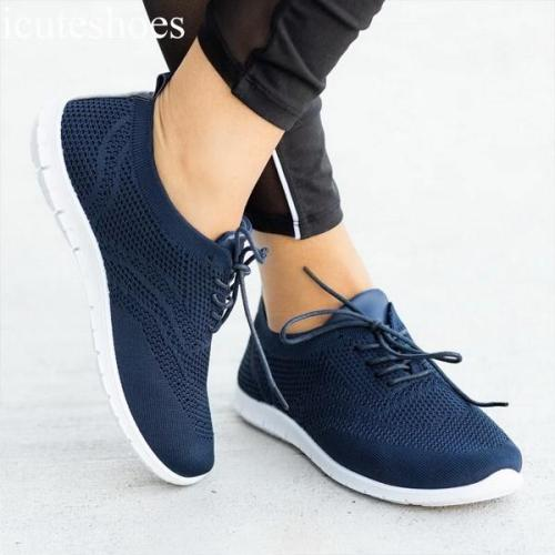 Light Sneakers Women Running Shoes Breathable Mesh Slip-On Shoes Woman Sports Vulcanize Shoes