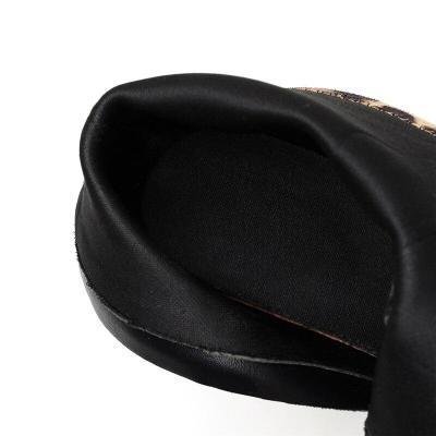 Women High Heels Suede Leopard Boots Ankle Boots Gothic Block Heels Platform Plus Size Shoes