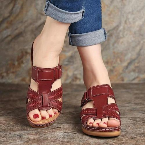 Wedge Heel Slip-On Flip Flop Rubber Slippers