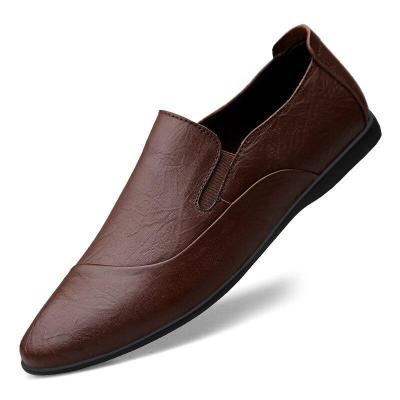 Man Leather Shoes Slipons Spring Summer Male Casual Shoe Breathable clax Men's Loafers Moccasins Genuine Leather