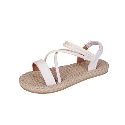 Summer New Women's Sandals Flat Loose Belt Beach Shoes Comfortable Sandals Women